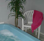 We have a private indoor spa available for guests use.
